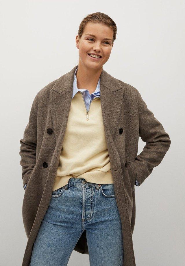 BARTOLI - Classic coat - kaffebrun