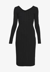 Pieces - PCNING DRESS - Pouzdrové šaty - black - 4