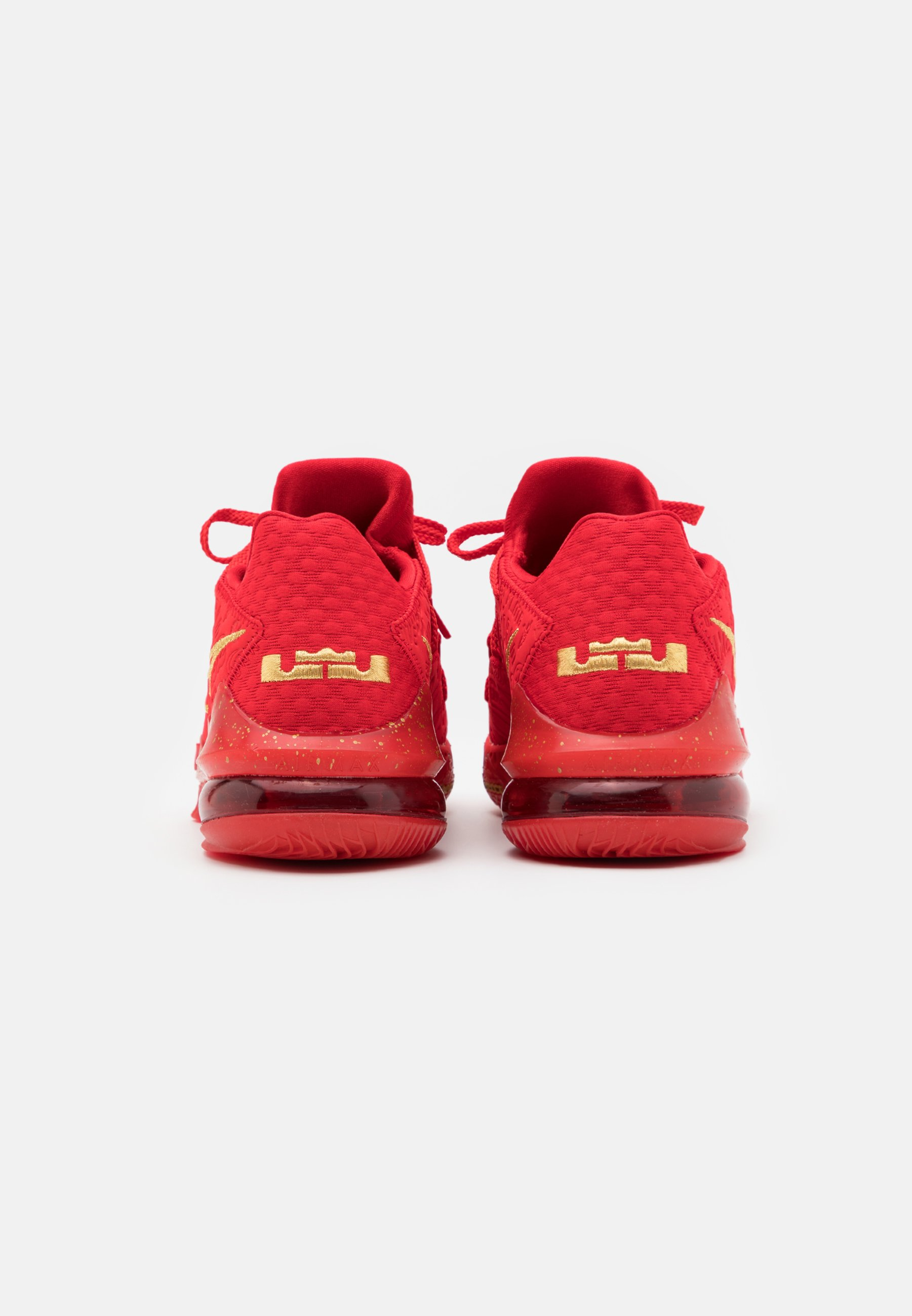 Nike Performance LEBRON XVII LOW - Basketballschuh - university red/metallic gold/rot - Herrenschuhe bCCGC