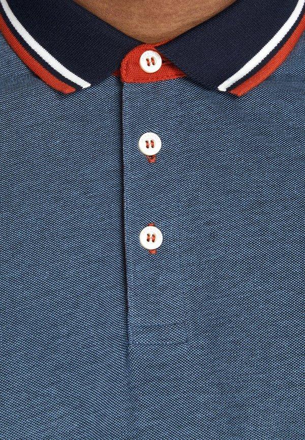 Jack & Jones JJEPAULOS - Koszulka polo - denim blue/niebieski denim Odzież Męska NBNC