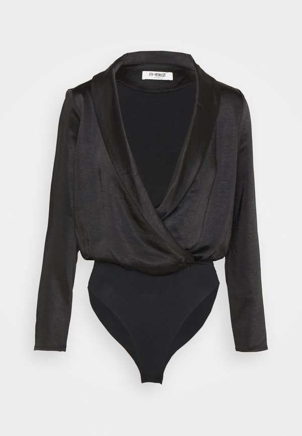 4th & Reckless COLLINS BODYSUIT - Bluzka z długim rękawem - black/czarny YDZJ