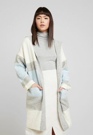 HODDED CARDIGAN - Cardigan - light grey melange