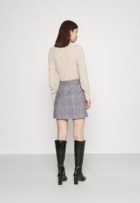 Gina Tricot - SAGA SKIRT - Mini skirt - blue - 2