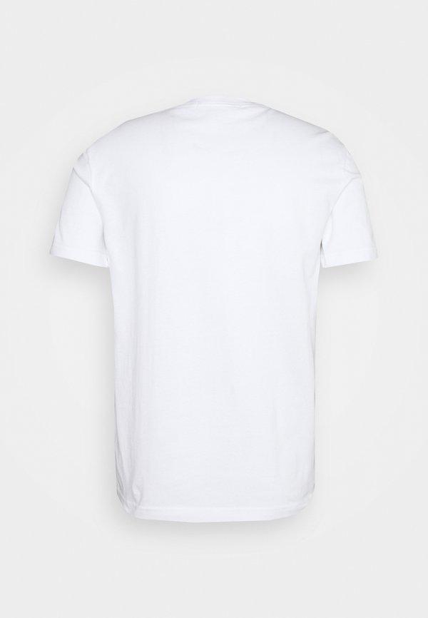 Calvin Klein Jeans MONOTRIANGLE TEE - T-shirt z nadrukiem - bright white/biały Odzież Męska FKDM