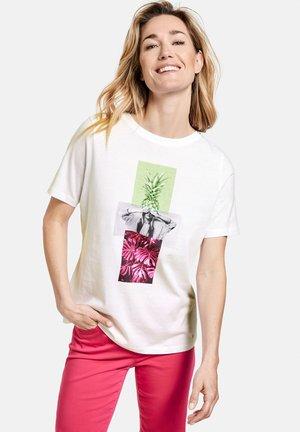 Print T-shirt - weiß/weiß