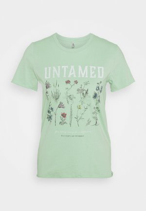 ONLLUCY LIFE WILDFLOWER  - Print T-shirt - sprucestone/untamed