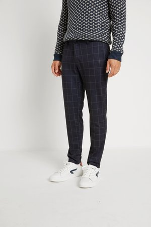 ONSMARK PANT CHECK - Trousers - dark navy