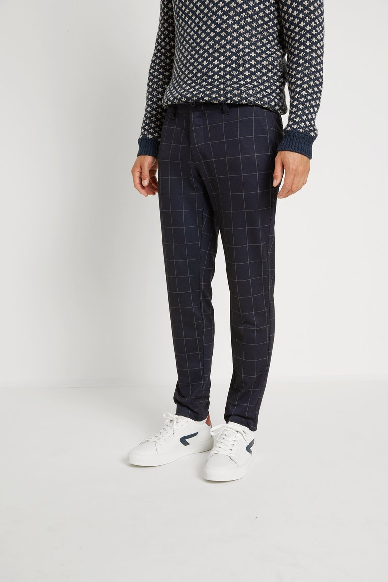 Only & Sons - ONSMARK PANT CHECK - Pantalon classique - dark navy
