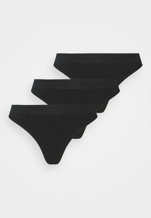 SEAMLESS HIGH CUT 3 PACK - String - black
