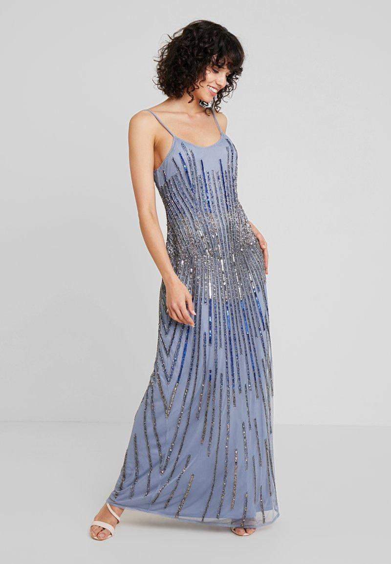 Lace & Beads - DULCE MAXI - Společenské šaty - blue