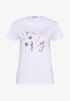 MIT BLUMENPRINT - Print T-shirt - weiß
