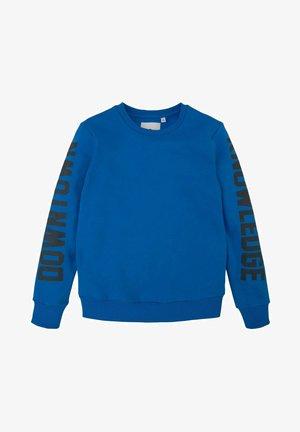 MIT SCHRIFTPRINT - Sweater - strong blue
