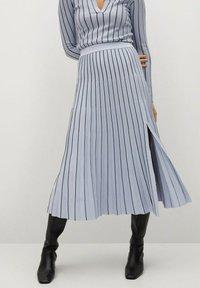 Mango - ARARE - A-line skirt - bleu - 0