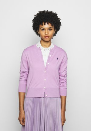 CARDIGAN LONG SLEEVE - Strickjacke - matisse purple