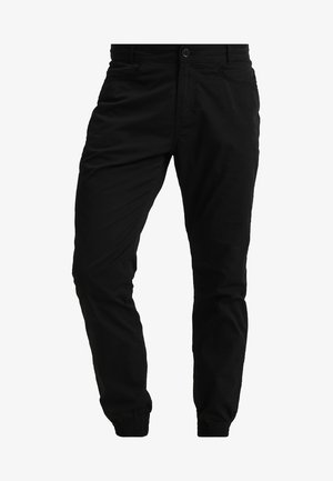 NAUTICAL TROUSERS - Kangashousut - black