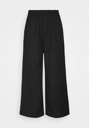 NONA CULOTTE - Spodnie materiałowe - schwarz