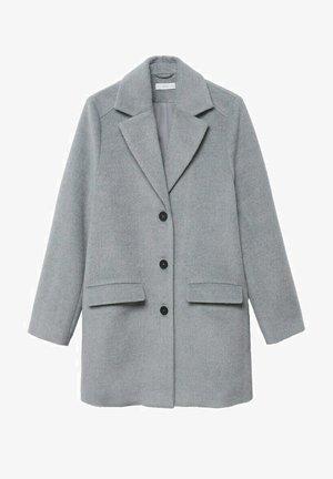 RECHTE JAS  - Classic coat - licht/pastelgrijs
