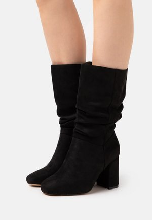 WIDE FIT BLOCK BOOT - Boots - black
