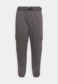 Missguided Plus - PLUS CARGO JOGGER WITH BUCKLE - Tracksuit bottoms - charcoal - 0