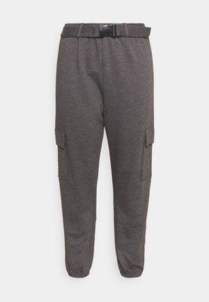 PLUS CARGO JOGGER WITH BUCKLE - Joggebukse - charcoal