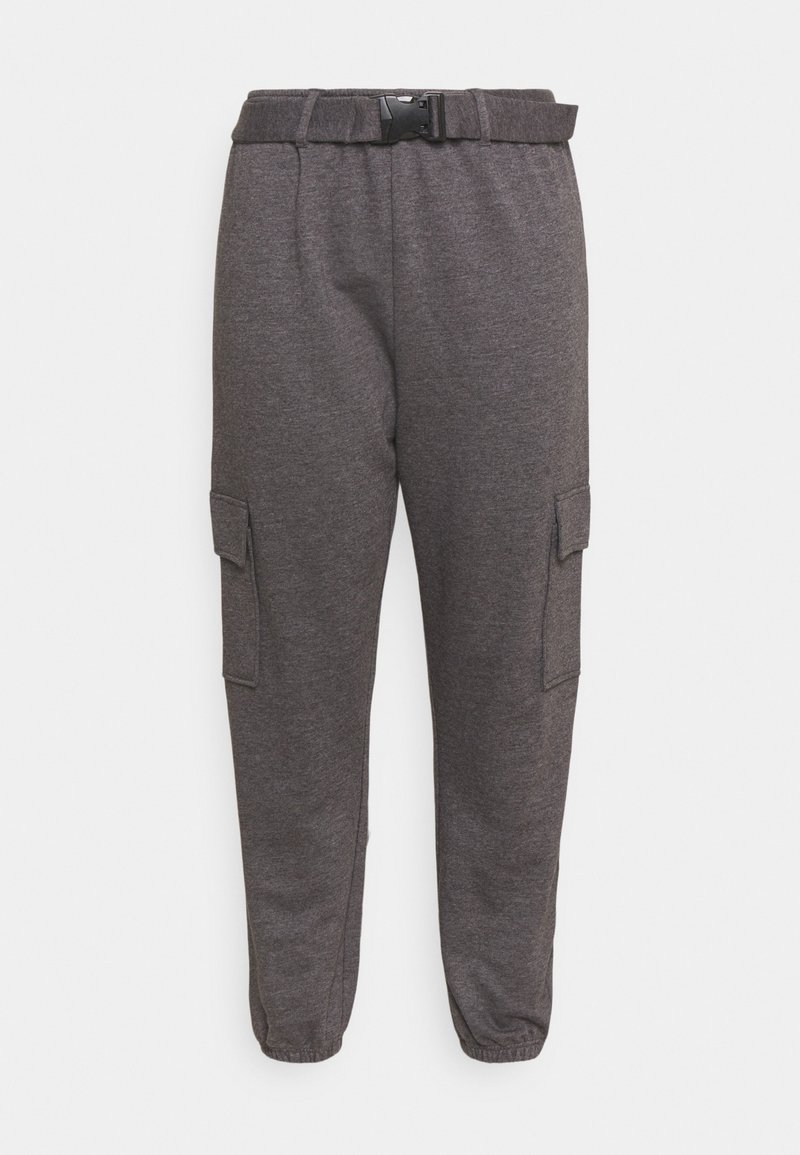 Missguided Plus - PLUS CARGO JOGGER WITH BUCKLE - Tracksuit bottoms - charcoal