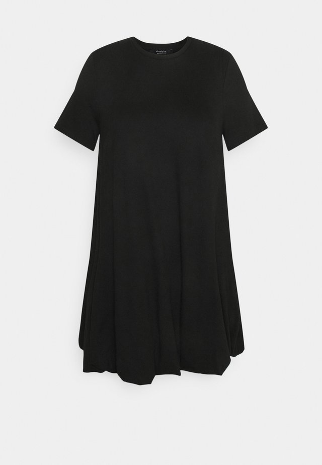 PUFFBALL SWING DRESS - Jersey dress - black