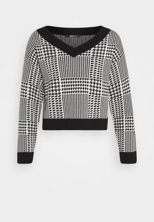 SWEATER - Strikkegenser - black/white