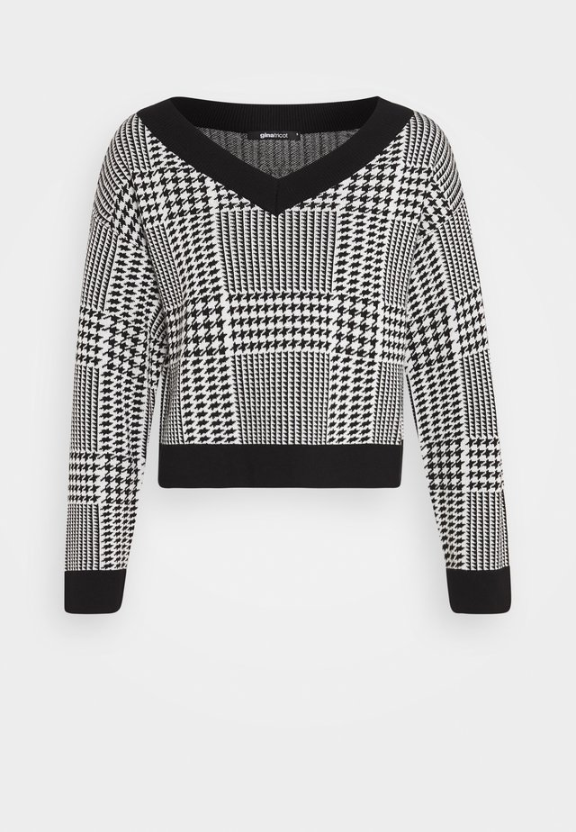 SWEATER - Pullover - black/white