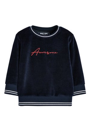 NAVY AWESOME VELOUR CREW TOP (3MTHS-7YRS) - Sweatshirt - blue