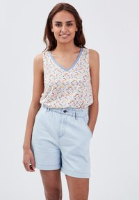 BONOBO Jeans - Camiseta estampada - blanc - 0
