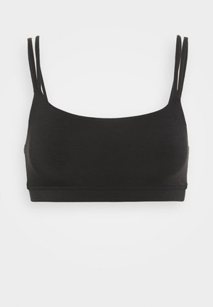 LOW IMPACT BREATHE DOUBLE STRAP BRA - Sports bra - true black