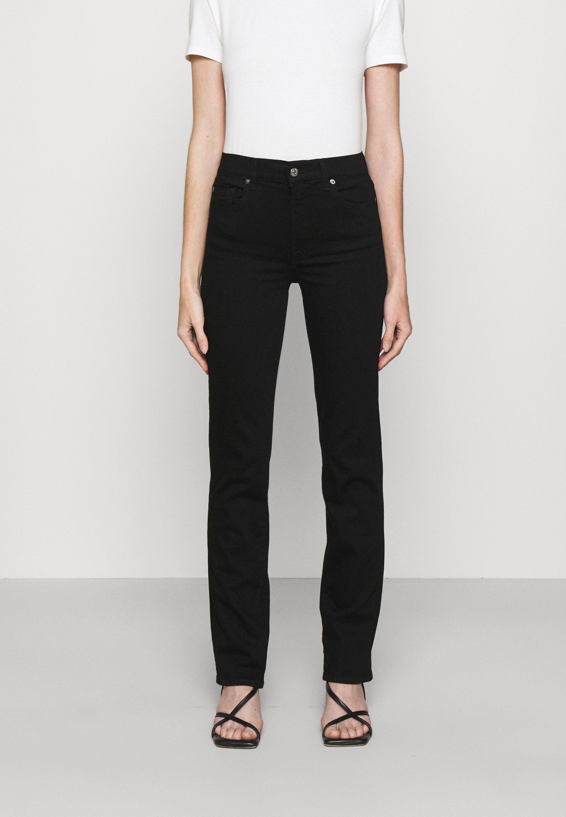 Women THE STRAIGHT RINSED BLACK - Straight leg jeans