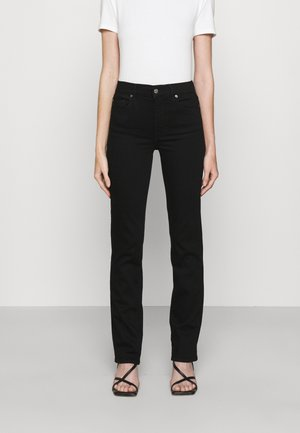 THE STRAIGHT RINSED BLACK - Jeans a sigaretta - black