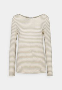 LONG SLEEVE BOAT NECK STRIPED - Long sleeved top - multi/off white