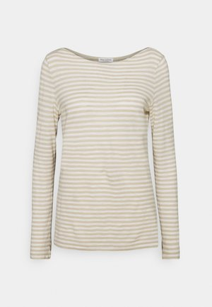 LONG SLEEVE BOAT NECK STRIPED - T-shirt à manches longues - multi/off white