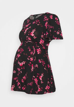 PRINT HALF MOON TIE BACK - Camicetta - black pattern