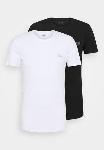 UMLT-JAKE TWOPACK 2 PACK - Jednoduché triko - black/white