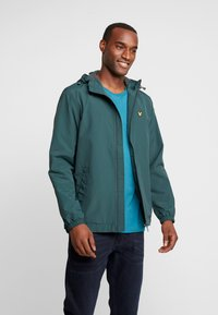 Lyle & Scott - ZIP THROUGH HOODED JACKET - Summer jacket - jade green - 0