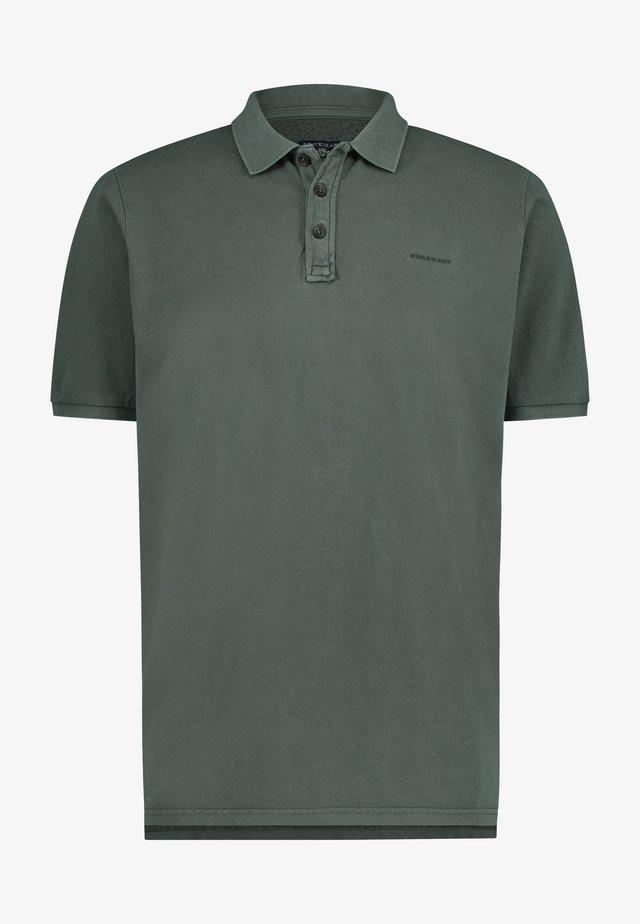 REGULAR FIT - Poloshirt - dark green plain