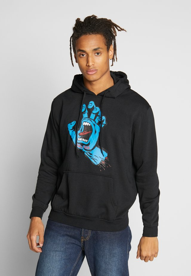 UNISEX SCREAMING HAND HOODIE - Jersey con capucha - black
