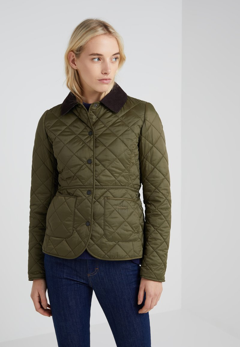 Barbour - DEVERON QUILT - Light jacket - olive/pale pink