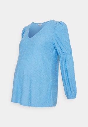 PCMGERALDINE SLEEVE  - Blouse - little boy blue