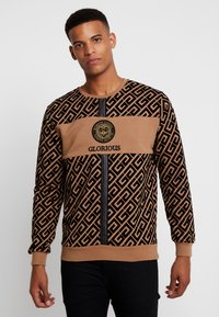 Glorious Gangsta - YAKUZA LOGO SWEAT - Sudadera - tan - 0