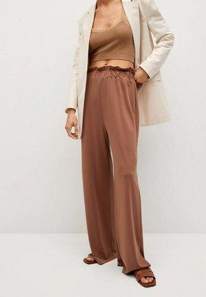 Pantalon classique - orange brûlé