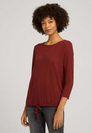 Långärmad tröja - dark maroon red melange