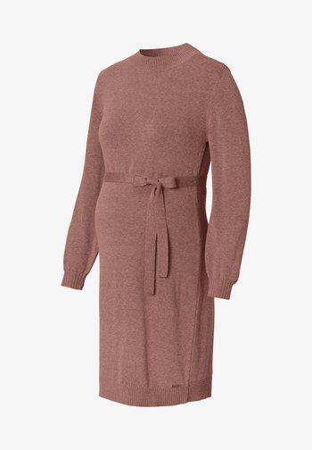 Strikket kjole - brown