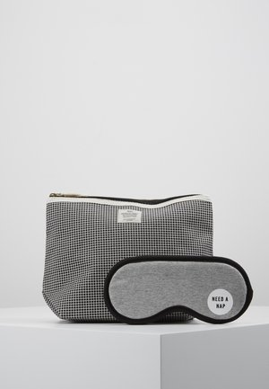 TRAVEL POUCH PREMIUM EYEMASK SET - Trousse - black grid/grey