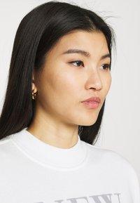 Abercrombie & Fitch - MOCK NECK LOGO CREW - Sweatshirt - white - 3