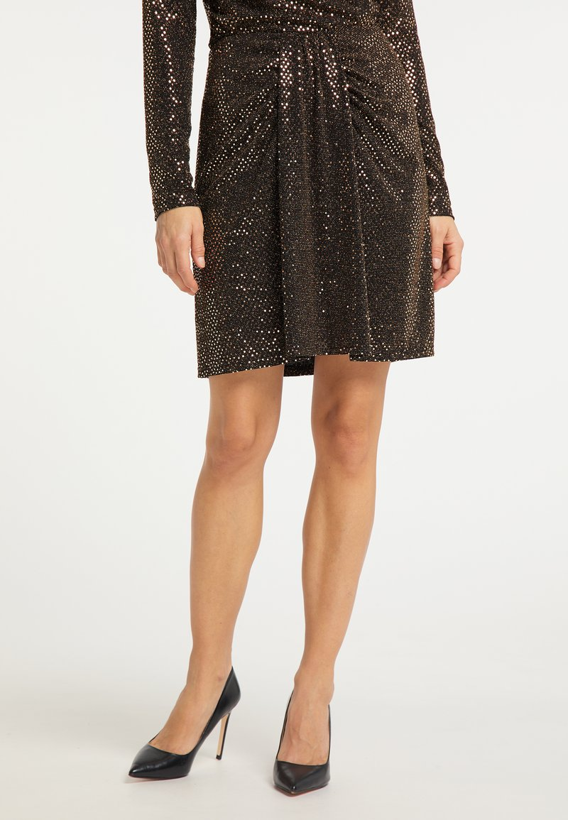 usha - A-line skirt - schwarz nude
