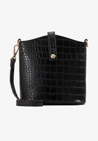 Pieces - PCMELON MINI SHOPPER - Across body bag - black/gold - 4